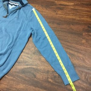 Tommy Hilfiger Sweaters - TOMMY HILFIGER Men's Blue Pullover Sweater 1/4 Zip